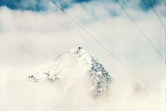 In the heights (pau'lin) Tags: blue winter sky white mountain snow film fog clouds analog 35mm high superia rocky fujifilm slovakia zenit analogue topf150 tatras helios zenitet
