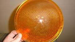 Aldridge amber signal lens. (RS 1990) Tags: light green glass lens amber traffic siemens rubber plastic seal segment signal southaustralia aldridge visor lenses oring august2012