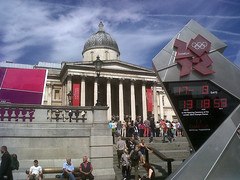 Olympics countback clock (janeslondon) Tags: pink london art clock museum digital square logo pod gallery purple mayor trafalgar national olympics volunteer countdown information ambassadors paralympics wc2