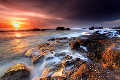 Sunset Surge (Pandu Adnyana (thanks for 100K views)) Tags: ocean sunset bali rock indonesia lot wave surge tanah melasti