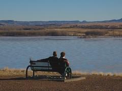Company (cooper.gary) Tags: cooper gtcooper gtcooperphotography kuperimages couple sitting bench overlook lake water lakechatfield kuper gtkuper