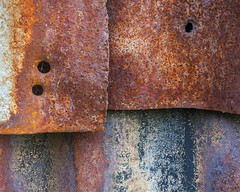 Tin Shed 3 (mcb photography) Tags: blue red tin rust iron hole shed sheet corrugated mikebarber