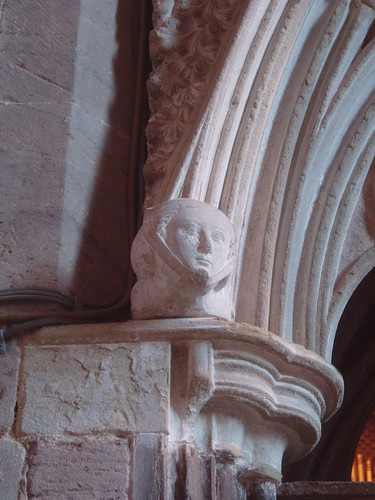 Medieval Head, Aquablanca Tomb, Hereford Cathedral