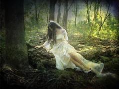 Nearly Forgotten (Femininelure) Tags: woman selfportrait bride woods fantasy romantic