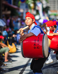 10,000 eisa Dance (Michael Anthony Jpn) Tags: street travel blue people music food japan 35mm canon photography skies angle mark iii festivals culture wideangle l okinawa eisa okinawan 135mm 20l f2l 5d3m