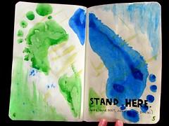 Stand here Page (Bernadette Igyarto) Tags: fun creativity wreckthisjournal