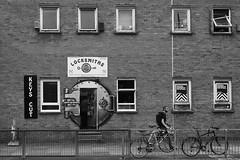 as safe as a vault ( www.ethanleephoto.com) Tags: life door leica uk travel people bw brick london window bike bicycle wall zeiss graffiti key lock 28mm snap m8 vault oldstreet zm
