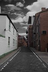 Glow Street (PicarusSlim) Tags: street city uk urban white black green photography photo shots yorkshire leeds inspired mint line cobblestones clear cobblestone gareth ghz hoyle victoriaquay