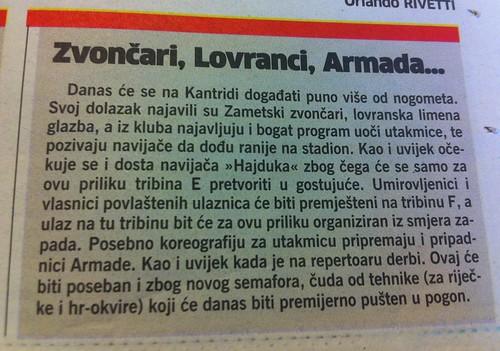 Zvončari, Lovranci, Armada (Novi List, 01.09.2012)