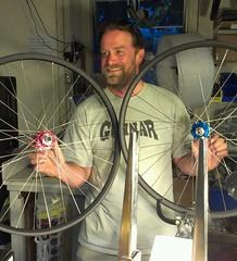 Wilson's new Wheels (Cold Iron) Tags: bike bicycle carbon chrisking philwood parktool wheelbuild rockthebike