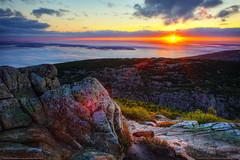 Cadillac Mountain Sunrise (Greg from Maine) Tags: sunrise landscape maine barharbormaine acadia barharbor mountdesertisland mdi cadillacmountain acadianationalpark mountainsunrise