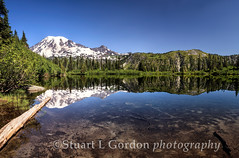 Mt. Rainier Reflection (chasingthelight10) Tags: travel mountains nature reflections photography landscapes events lakes panoramas places mountrainiernationalpark vistas washingtonstate wildernesstrails benchlake