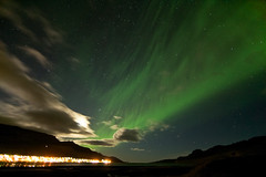 Last night in Faskrudsfjordur (*Jonina*) Tags: longexposure sky night clouds iceland village sland northernlights auroraborealis ntt sk himinn norurljs fskrsfjrur faskrudsfjordur orp jnnagurnskarsdttir