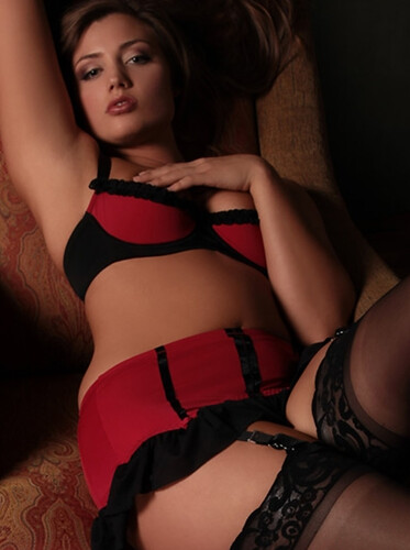 Under a bbw in red panties