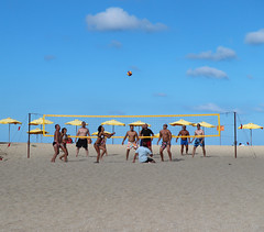 Beach Volley (Been Around) Tags: cloud holiday praia sport clouds strand mar meer europa europe urlaub travellers eu playa beachvolleyball more bulgaria volleyball blacksea 2012 beachvolley bul bulgarien sinemorec blackseacoast chernomore  schwarzesmeer  urtlaub concordians thisphotorocks schwarzmeerkste bauimage bulgarianblackseacoast tschernomore ustietobeach
