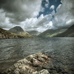 Wastwater (violinconcertono3) Tags: england lake mountains water beautiful clouds landscapes rocks flickr unitedkingdom fineart lakedistrict cityscapes cumbria wastwater beautyspot fineartphotography davidhenderson greatgable fineartphotographer londonphotographer 19sixty3 19sixty3com