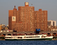 Circle Line on the Hudson River, New York City (jag9889) Tags: city nyc cruise ny newyork building public boat ship apartment riverside manhattan sightseeing highrise housing hudsonriver coop circleline westsidehighway complex 3333broadway