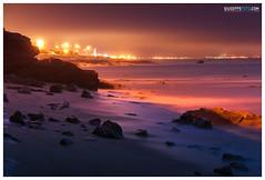 Figueira da Foz (Giuseppe Foto) Tags: portugal noche mar playa nocturna coimbra cala figueiradafoz largaexposicin contaminacinlumnica josmaramartnez panosonicgf1 giuseppefoto2012