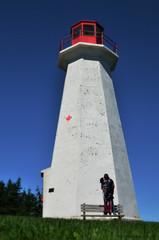 Bench Monday #28: Strange Road Trip (Until Next Time) - Cape George Lighthouse (RielleM) Tags: ocean lighthouse canada nikon lighthouses novascotia antigonish capegeorge strangeroadtrip antigonishcounty d5100 minicabottrail nikond5100