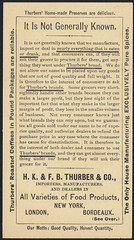 Ask for Thurbers' S. I. (specially imported) spices [back] (Boston Public Library) Tags: spices adults camels caravans advertisingcards