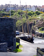 Amlwch harbour - the schooner 'Pickle' in situ (DizDiz) Tags: uk wales island anglesey april2009 olympusc720uz