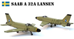 Saab A 32A Lansen (Matthew McCall) Tags: lego jet fighter saab lansen attack aircraft airforce sweden swedish moc army military war