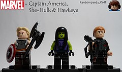 Planet Hulk: Captain America, She-Hulk & Hawkeye (Random_Panda) Tags: lego fig figs figures figure minifig minifigs minifigure minifigures characters character marvel comics superhero superheroes hero heroes super comic book books captain america shehulk hulk planet hawkeye