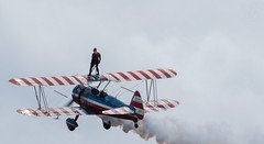 A walk in the clouds (LEXPIX_) Tags: wing walker wings over vermont 2016 airshow biplane nikon d810 36mp full frame sensor nikkor 70200 28 vr ii lexpix burlington waterfront