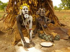 Mursi people (davidevarenni) Tags: farina mursi etiopia ethiopia tribe trib pane