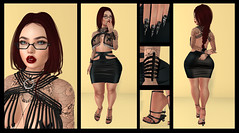 Annika Piton (Hopathia Shinobu) Tags: mistress leather black heels sexy braid redhead glasses librarian redlips tattoo asian pvc pale pasties envogue addams whie~widow goth1c0 thefetishfair2016 cerberusxing aisling blueberry formanails