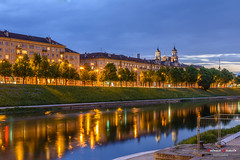 Vilnius, at night. Lithuania (Antonio Camelo) Tags: nikon night noche rio river reflections reflejos sky cielo colours colores landscapes lights luces lithuania