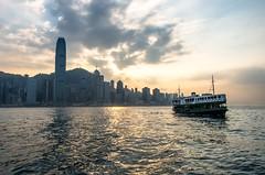 Victoria Harbour sunset (elpolodiablo) Tags: pentax k5 iis hong kong victoria harbour star ferry sunset skyline da 18135 wr