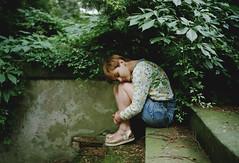 (*Nishe) Tags: girl botanical garden summer stairs melancholy rain