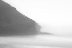 Cornwall & Sea Spray (melcolliephoto) Tags: cornwall monoblackandwhite sea ocean multiple exposure coastline cliffs rock