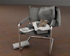 Atrezzo :: Chair & Outfit :: {kokoia} ({kokoia}) Tags: atrezzo chair outfit dress shoes stiletto jewelry handbag earrings necklace box mesh furniture