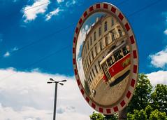 Prague - 5. Tramirror (Benji :D) Tags: tram mirror wheredoesitgonobodyknow 2016 prague czech republic