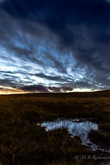 Sky above and below after sunset (Lealtadpics) Tags: nireland night belfast reflections coantrim puddle grass movement clouds water tamron1530 ulster longexposure canon6d