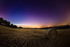 Field by night (Luke Sergent) Tags: eastanglia astrology astronomy bale barley black brightness canonfd15mm constellation corn costessey dark darkness england field fields fisheye galaxy harvest hay landscape light lightpollution nature night norfolk outdoor pollution scenery sky space star starfield starlight starry straw time uk universe
