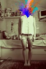 B O O M (giuliaph.) Tags: me art artistic boom bomb colors colours girl selfportrait illusionism magic callitmagic omg stunning biancoenero blackandwhite bw bn bianco nero black white