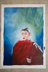 Monk1 (Smita S Chatterjee) Tags: oil oilpainting painting canvas paintings monk buddha meditation prayer praying