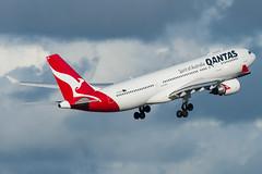 Qantas A330-200 VH-EBQ (altinomh) Tags: qantas a330200 vhebq qf airbus a330 sydney international airport yssy syd a332 take off departure cloud flying kangaroo roo winglet