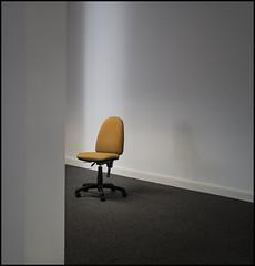 Chair #3 Yellow (Garry Corbett) Tags: yellowchair abandonedoffice stilllife emptyspace office officechair chair yellow cgarrycorbett2016 bluejazzbuddha