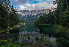 Eibsee (haziri.heroid) Tags: landschaft landscape lagune see lake spiegel zugspitze natur garmisch wald wood himmel sky eibsee nature park swim sommer summer berge alpen alps germany deutschland