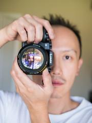 Big glass (Vincent F Tsai) Tags: lens camera cameraporn portrait selfie selfportrait gear wifi remote panasonic lumixg7 leicadgsummilux25mmf14