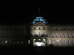 Neues Schloss lit at night, Stuttgart, Germany (Paul McClure DC) Tags: stuttgart germany deutschland aug2016 badenwrttemberg architecture historic