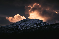 Last Light (Atmospherics) Tags: norway mountains dusklight lowlight dusk tones lowsun analog tonal arcticcircle nordic northernnorway atmospherics