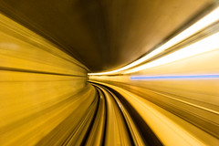 Speed (Repp1) Tags: bc canada skytrain metro vancouver tunnel tube speed vitesse perspective motionblur floucintique floudemouvement