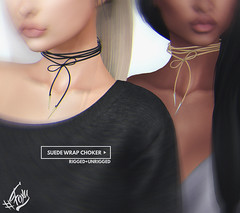 Out Now! Suede Wrap Choker @ Shiny Shabby (liza.broono) Tags: sl second life foxy original mesh fashion shiny shabby event suede wrap choker necklace
