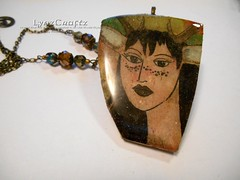 Forest Faun (LynzCraftz) Tags: polymerclay resin swellegant steampunk handmade oneofakind jewelry necklace pendant