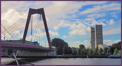 Two bridges (abriwin) Tags: nl holland rotterdam bridges river maas meuse